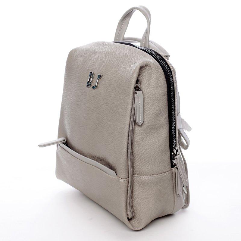 Dámský městský koženkový batoh Mia šedý