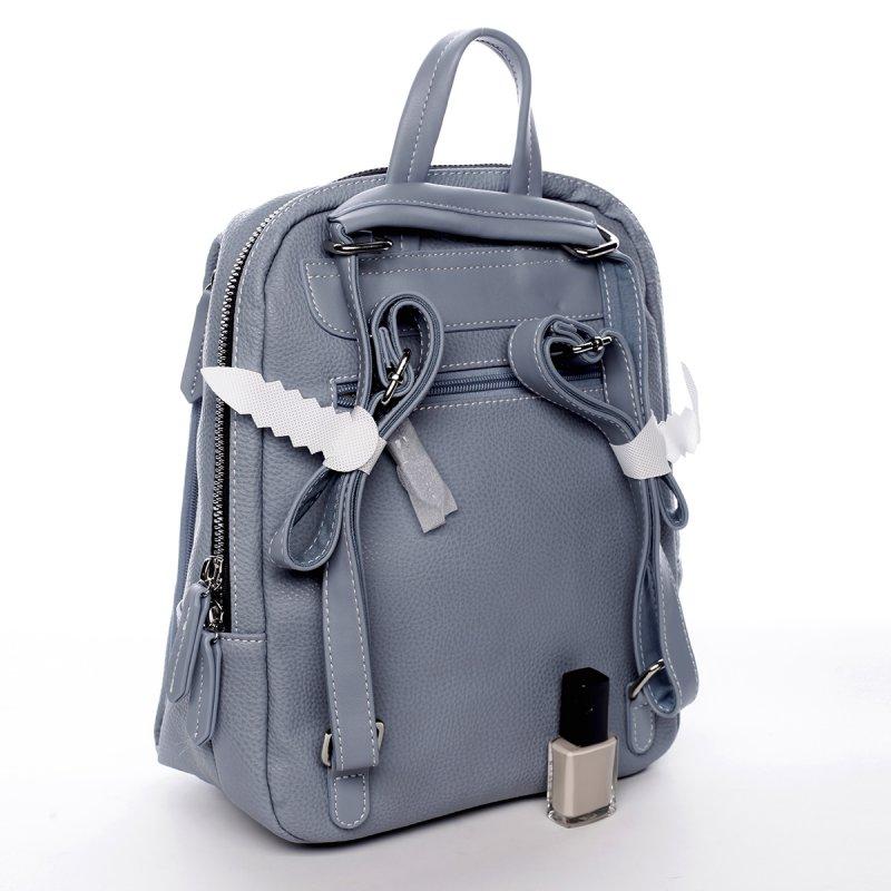 Dámský městský koženkový batoh Mia modrý