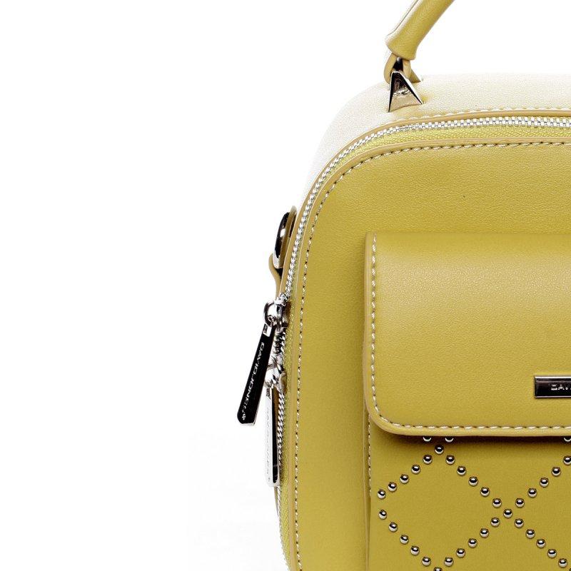 Menší stylová koženková kabelka City life žlutá