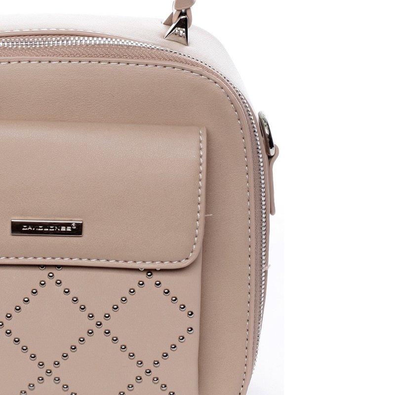Menší stylová koženková kabelka City life růžová
