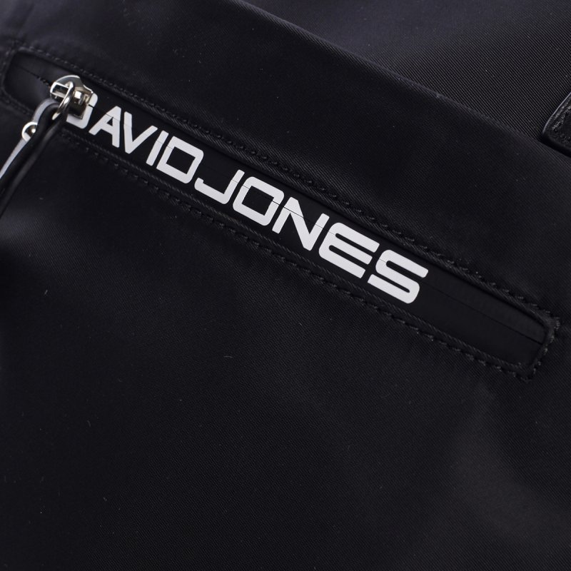 Kombinovaná koženkovo textilní kabelka Lara černá
