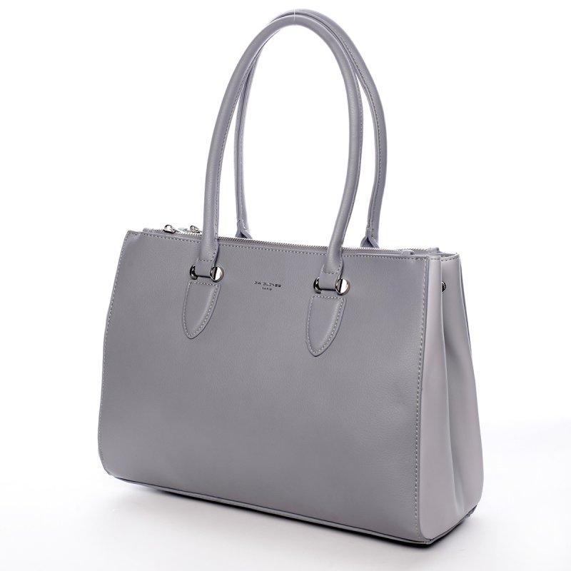 Elegantní dámská koženková kabelka Simple šedá