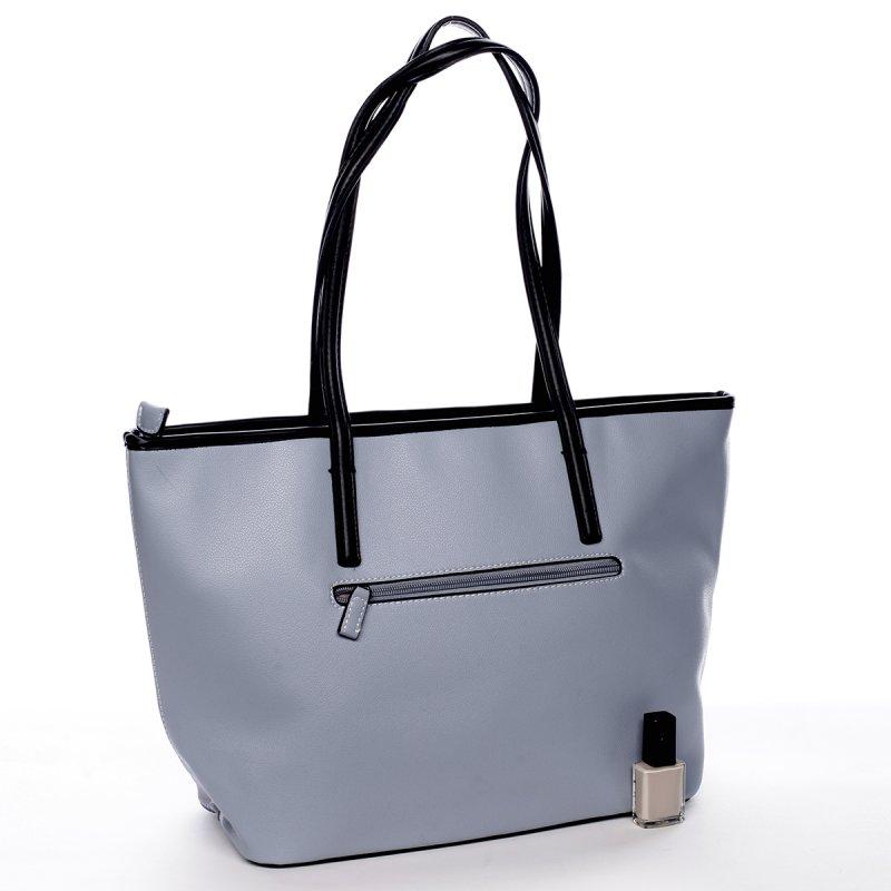 Designová koženková kabelka Lucie modrá