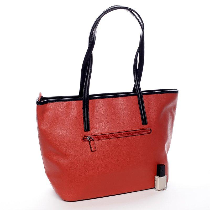 Designová koženková kabelka Lucie červená