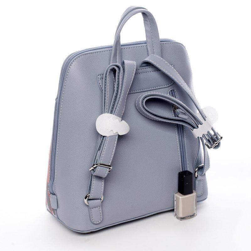 Stylový koženkový batoh Sasha modrý