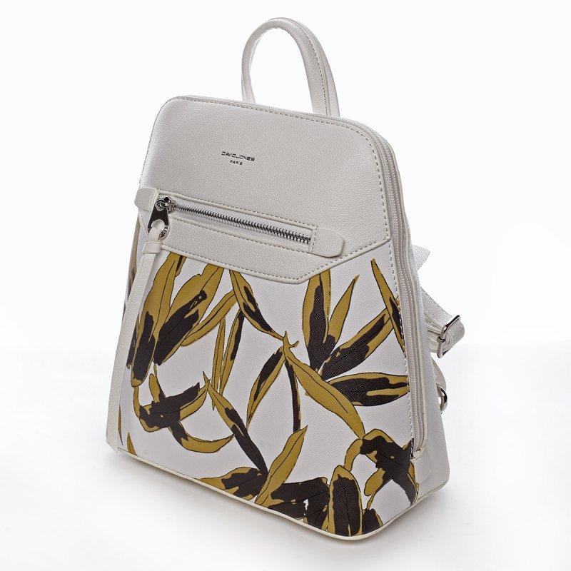 Stylový koženkový batoh Sasha bílý