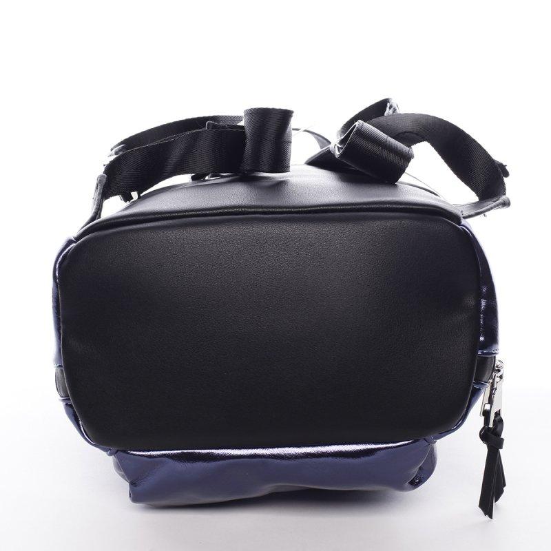 Ultramoderní lesklý batoh Shine modrý