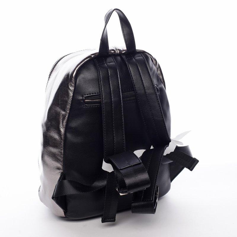 Ultramoderní lesklý batoh Shine stříbrný