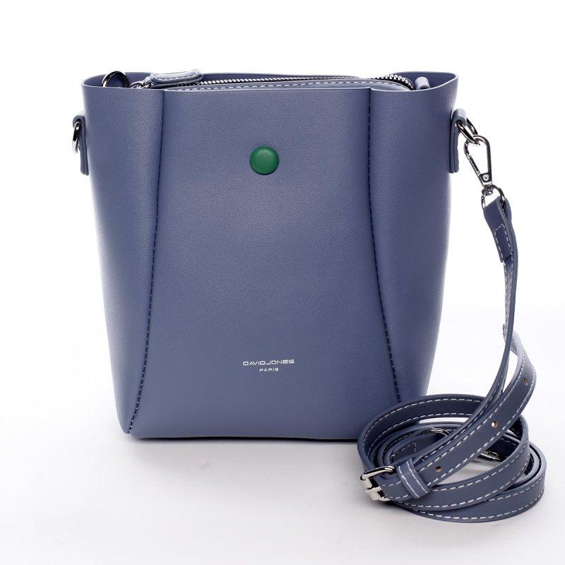 Designová koženková kabelka Dina modrá