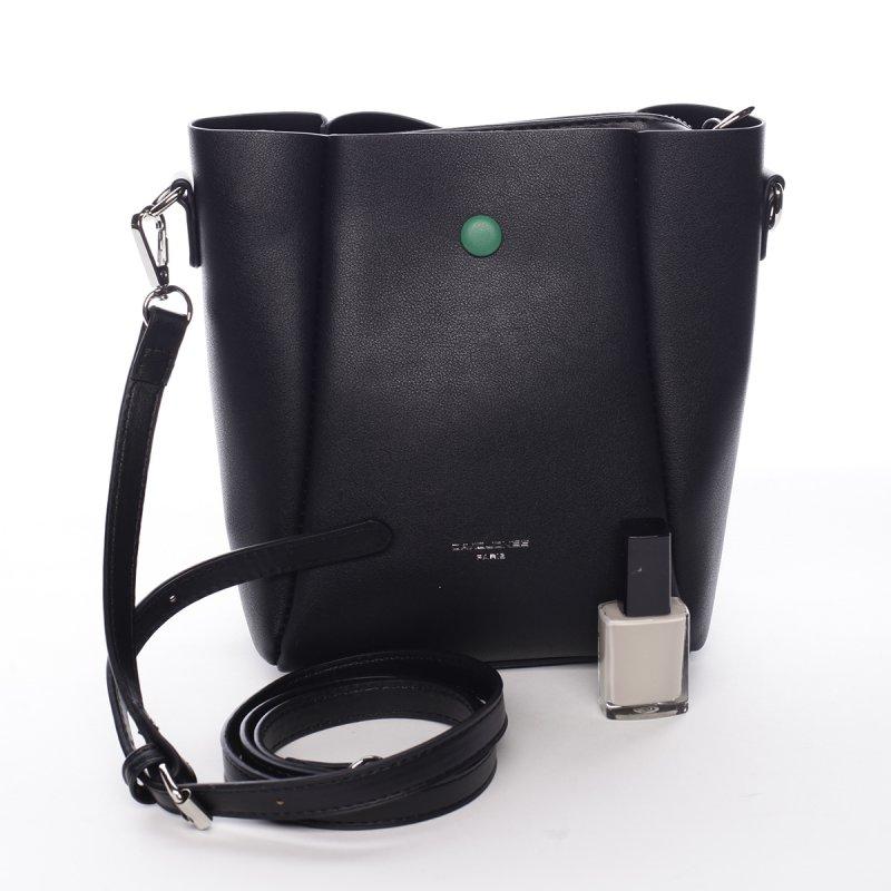 Designová koženková kabelka Dina černá