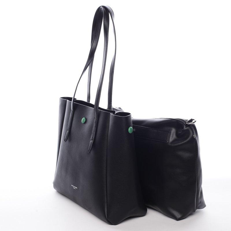 Designová koženková kabelka Dariana černá