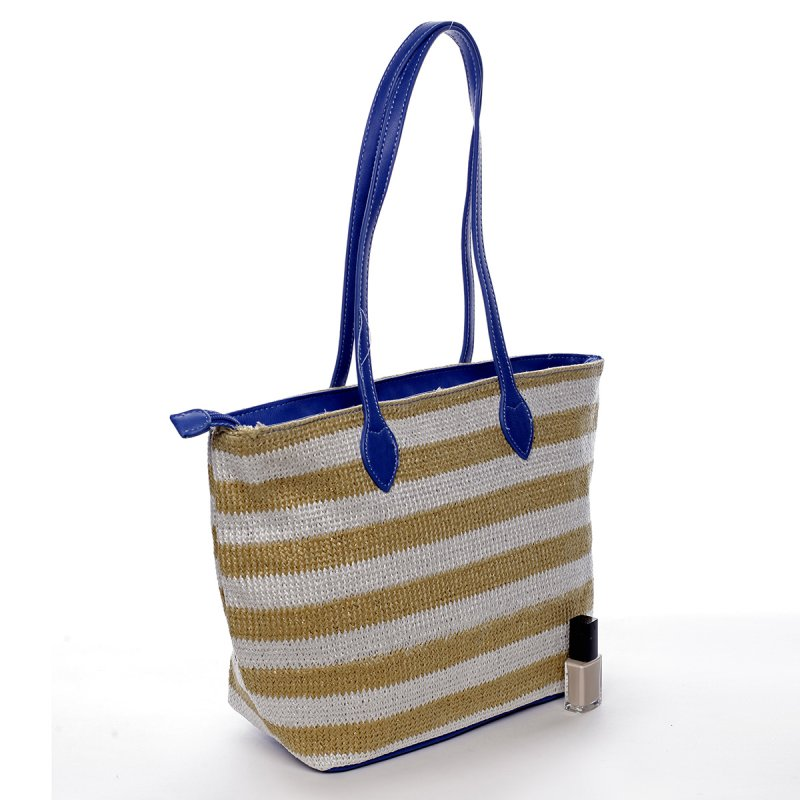 Plážová taška Navy Stripes modrá