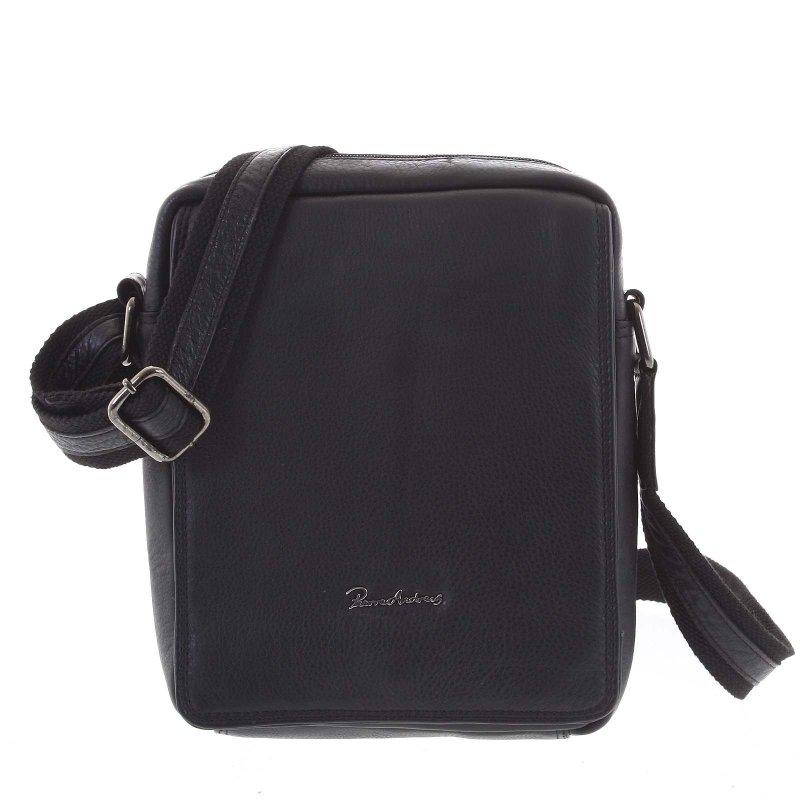 Pánská stylová kožená taška Vasil černá