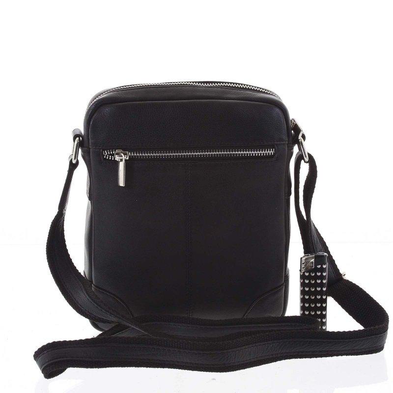 Pánská stylová kožená taška Melichar černá