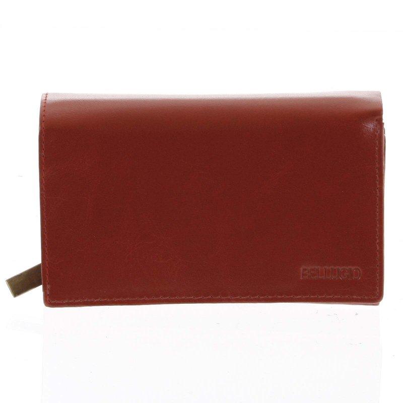 Dámská kožená peněženka Drahomíra červená