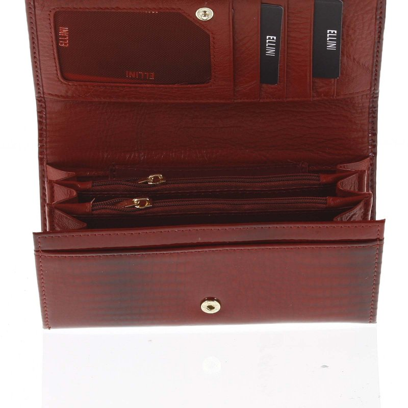 Dámská kožená peněženka Erna červená