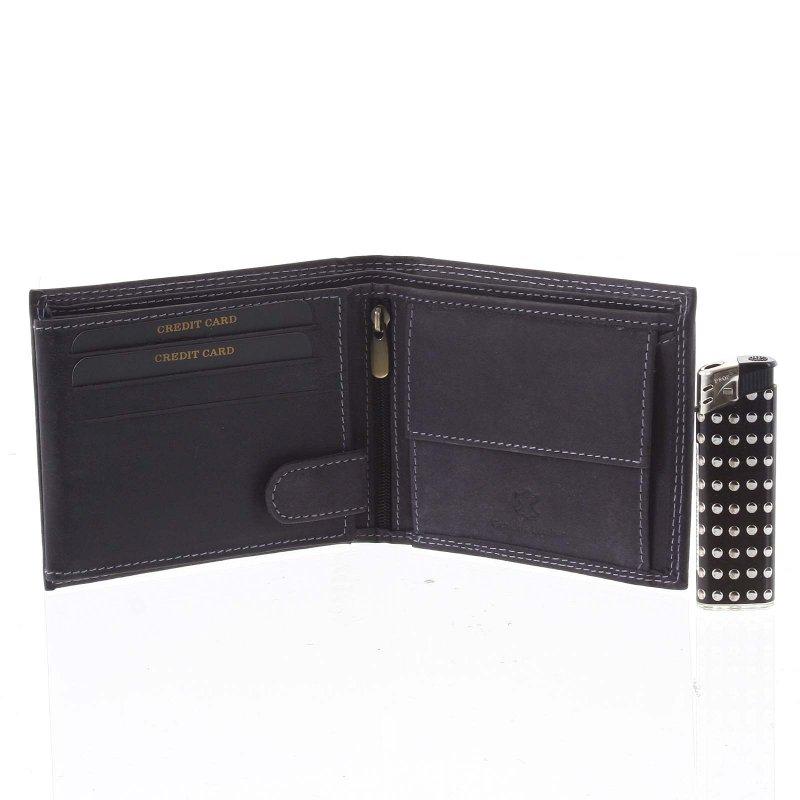Kožená pánská peněženka Pravoslav černá