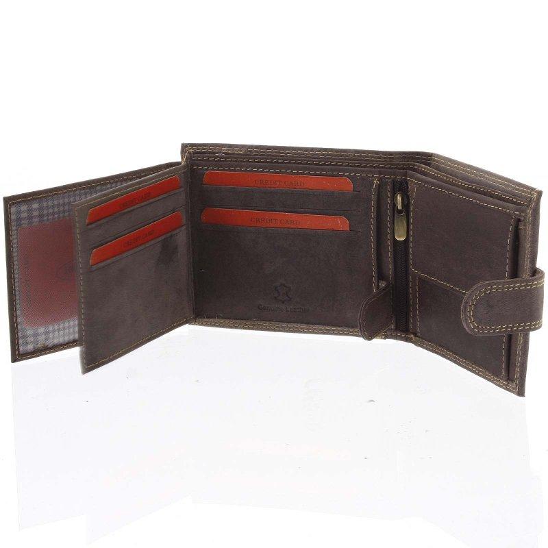 Pánská kožená peněženka Dezider hnědá