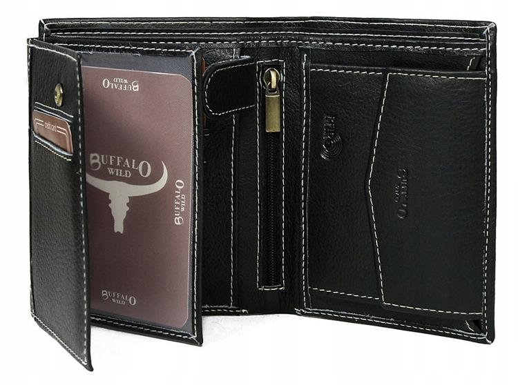Pánská kožená peněženka Buffalo, černá