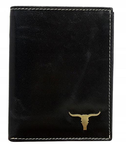 Praktická kožená pánská peněženka na výšku Ben, černá
