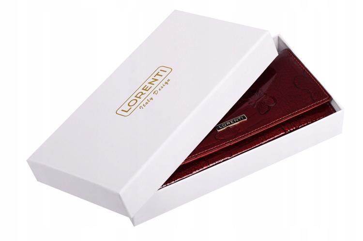 Elegantní lakovaná peněženka s motýly Adah, červená