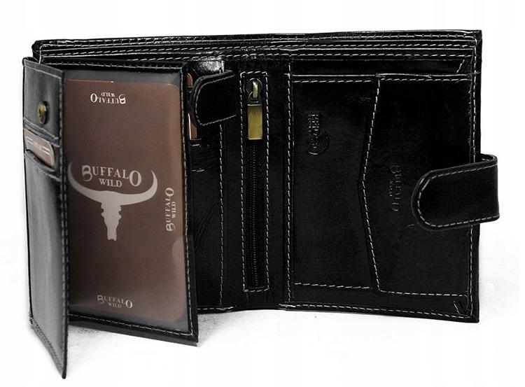 Originální pánská peněženka Buffalo Nicholas, černá se zapínáním