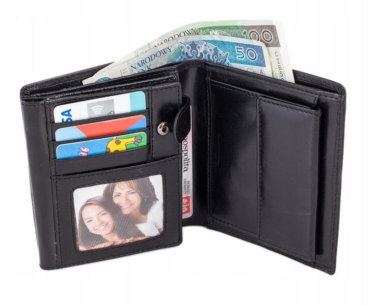 Klasická pánská kožená peněženka Paulo, černá