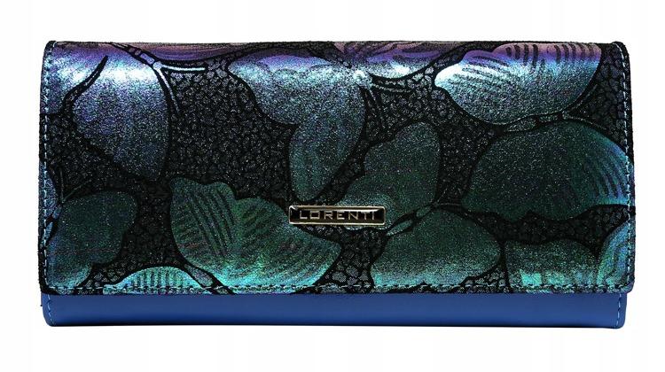 Kožená dámská peněženka Diana, modrá/zelená