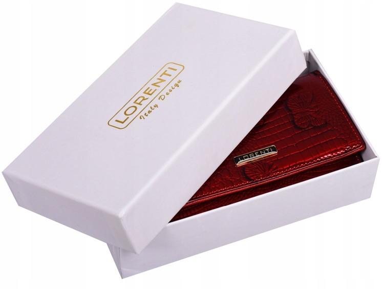 Lesklá dámská peněženka Giulia, motýl červená