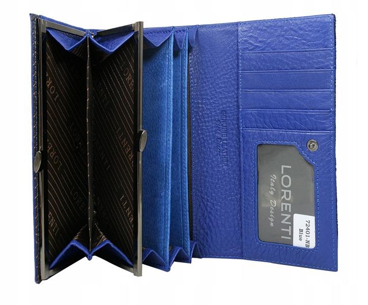 Kožená dámská peněženka Diana, modrá