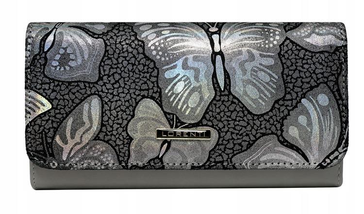 Kožená dámská peněženka Diana, šedá