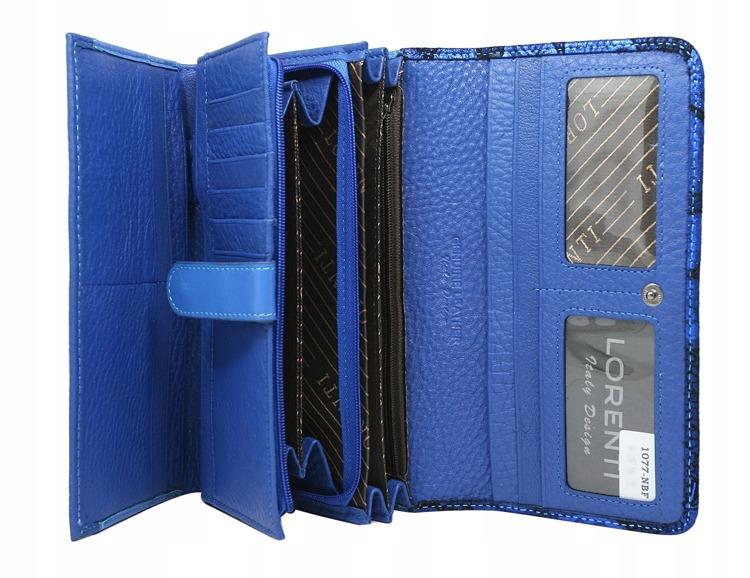 Luxusní dámská peněženka Nicoleta, modrá/zelená
