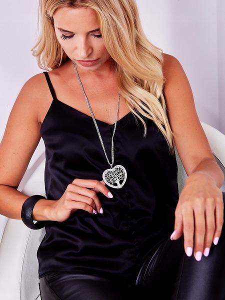 Dámský náhrdelník Tree of life in the heart, stříbrný