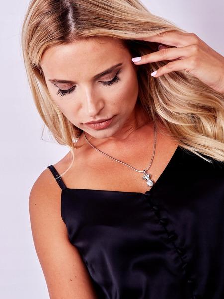 Dámský náhrdelník Ananas s kamínky, stříbrný