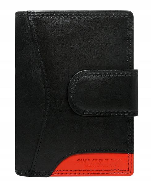 Praktická kožená dámská peněženka Crea, černo-červená