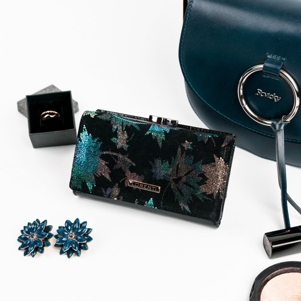 Elegantní kožená dámská peněženka Kay, zelená