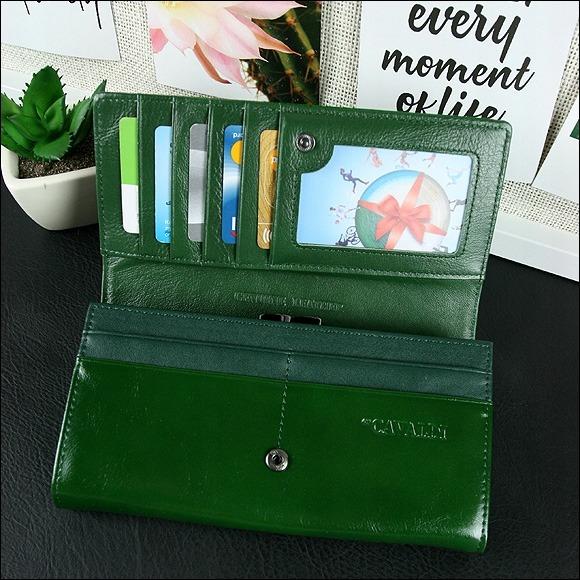 Exkluzivní delší dámská peněženka Cavaldi Ria, tmavší zelená