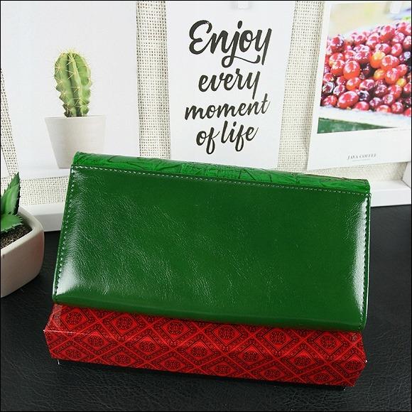 Exkluzivní delší dámská peněženka Cavaldi Ria, zelená