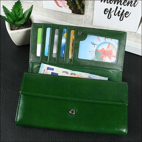 Exkluzivní kožená peněženka Trina, zelená