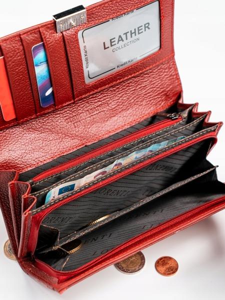 Kožená dámská peněženka Tory, červená