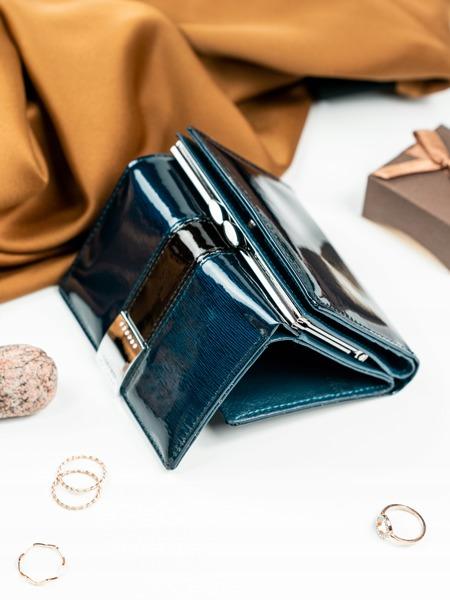 Luxusní dámská peněženka Claudie, modrá