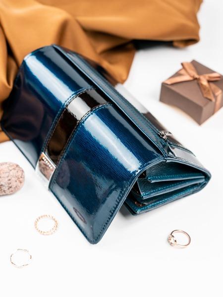 Lesklá dámská peněženka Rubí, modrá