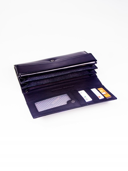 Lakovaná kožená dámská peněženka Carie, černá