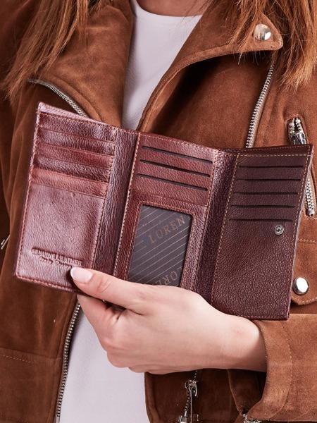 Luxusní kožená peněženka Clara, hnědá