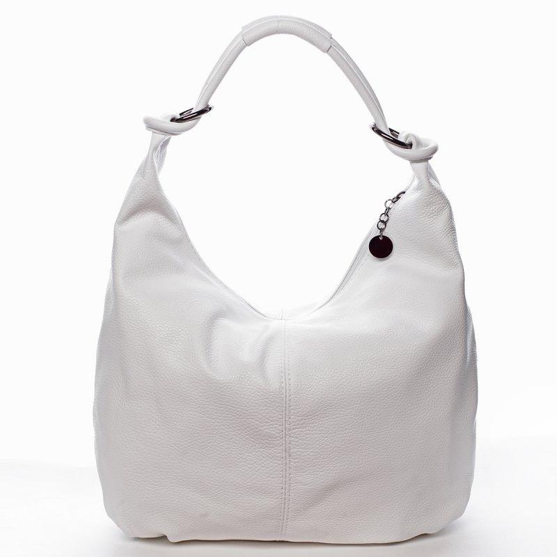 Fascinující kožená kabelka přes rameno MARGUERITE, bílá