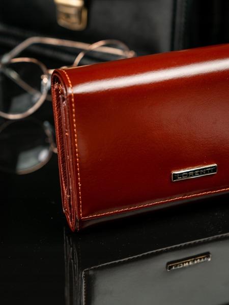 Jemná peněženka z hnědé kůže Frea