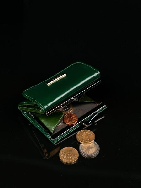 Malinká klasická kožená peněženka Nika, zelená