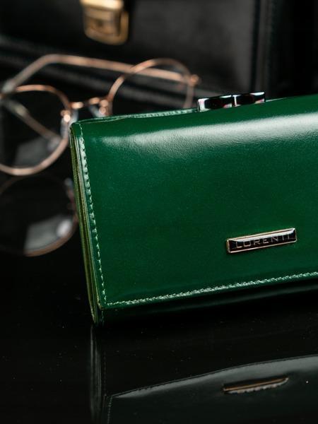 Hladká zelená kožená peněženka Vendy