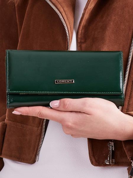 Moderní kožená dámská peněženka Vente, tmavě zelená