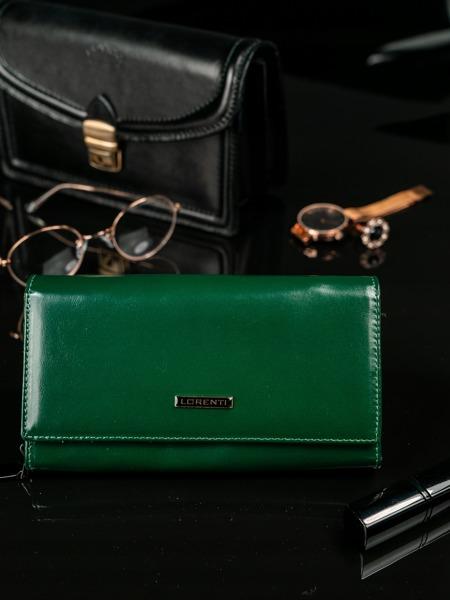 Klasická prostorná kožená peněženka Breta, zelená